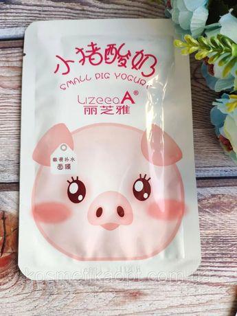 Тканевая маска для лица йогуртовая со свинкой Uzeeaa Piggy Yogurt Refr