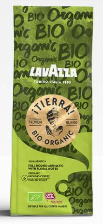 Lavazza Tierra Bio Organic, кофе арабика молотый 180 грамм. Италия