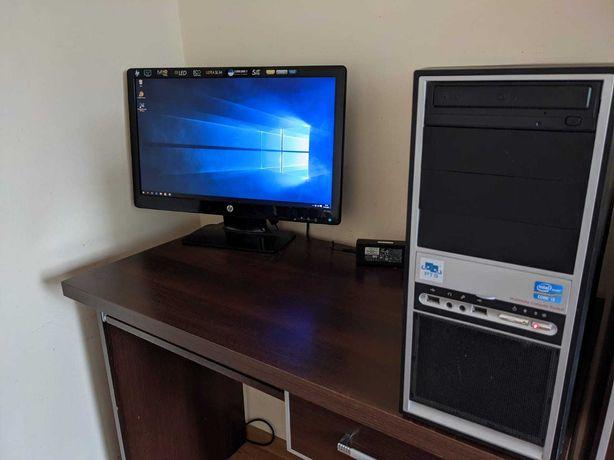 Komputer PC Intel i3 GeForce 240 1 GB 500 GB Dysk 4 GB RAM gwar LCD