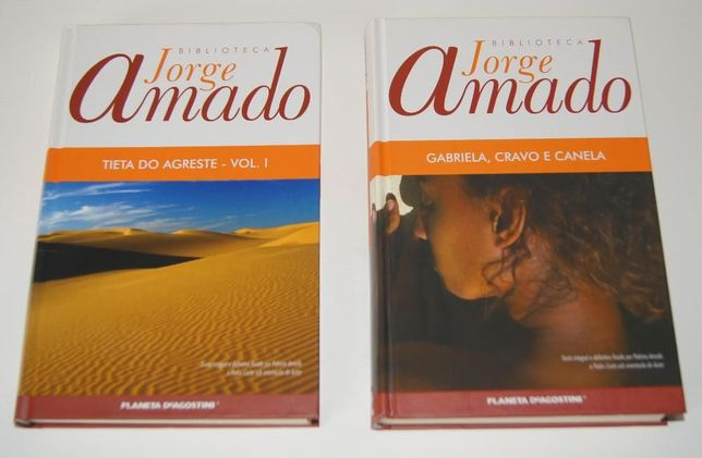 "2 Livros de Jorge Amado ""Tieta do Agreste - Vol 1"" e "" Gabriela"" NOVO"