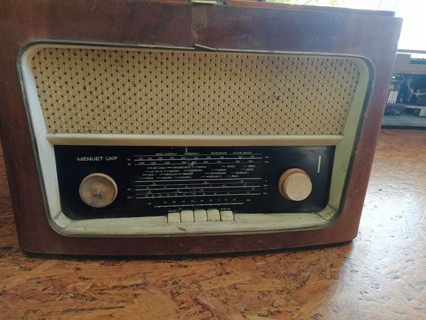 Stare zabytkowe kolekcjonerskie Radio lampowe Manuet UKF prl antyk