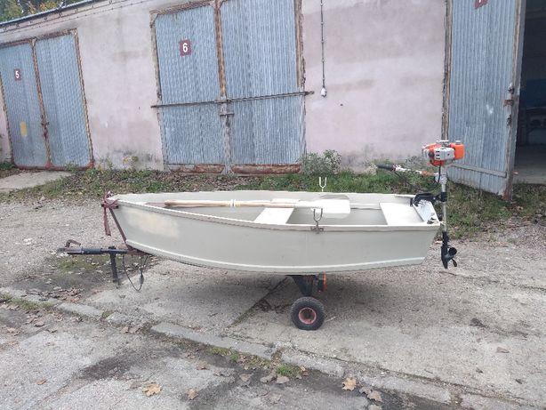 łódka płaskodenna rekreacyjna wędkarska