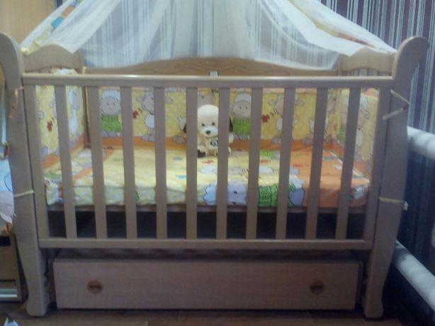 Детская кроватка Верес Соня ЛД 15 с маятником и ящиком