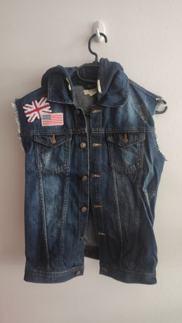 Kamizelka jeansowa na 12 lat