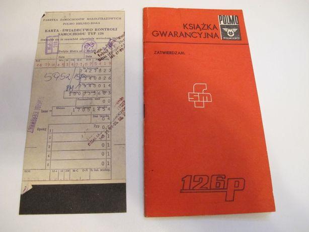 Książka gwarancyjna Fat 125p Maluch