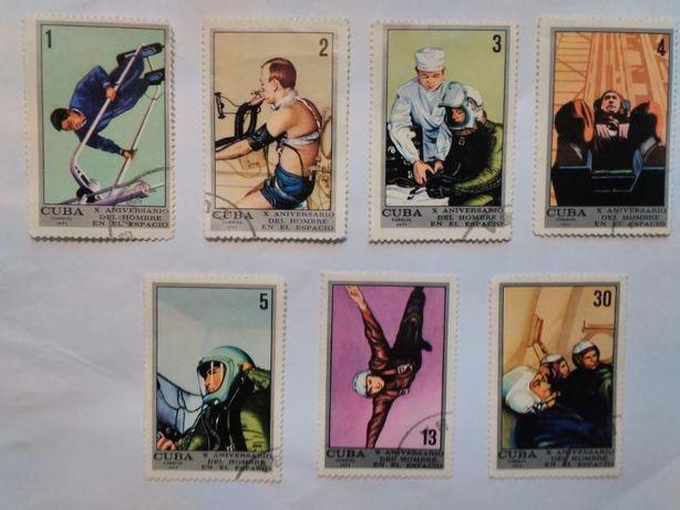 Коллекционные марки, Куба, 1971 г. К 10-летию первого полёта в космос