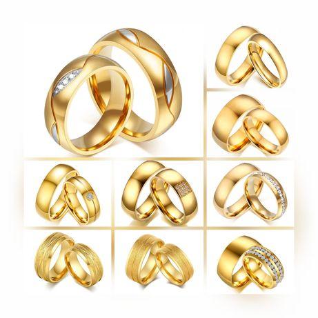 Piękne Lśniące Złote Obrączki Ślubne