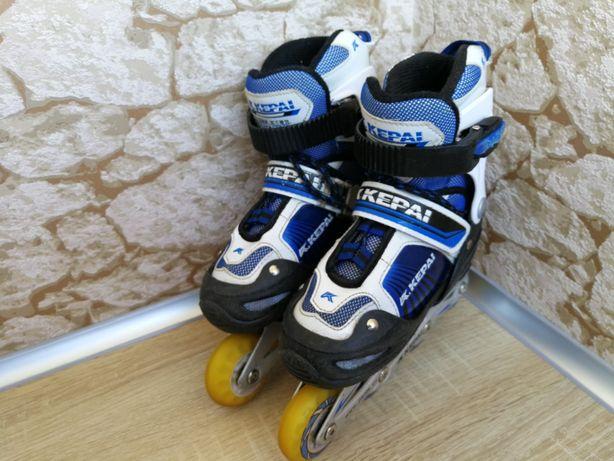 Роликовые коньки Kepai размер S 30-33 черно-голубые