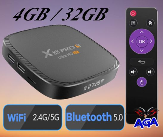 TV BOX 4GBGB/32GB Android 10.0 H616 2.4G i 5G WiFi 4K 6K X88 Pro