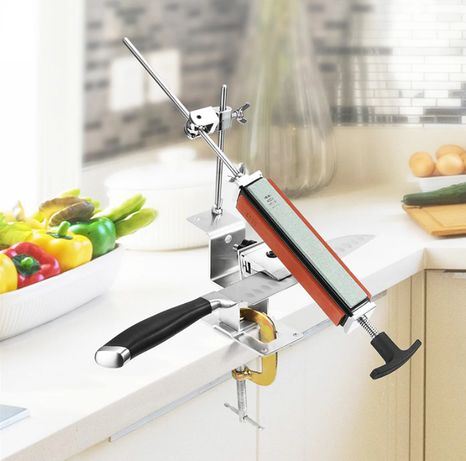 Точилка с поворотным механимом для заточки ножей