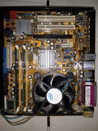 Материнкая плата+процессор+кулер+оперативка