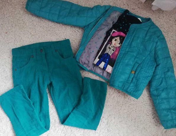 Kurtka kurteczka pikowana nową r 122 spodnie bluzka nowa zara 122