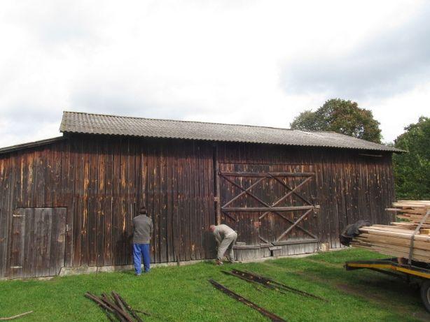 Stare deski rozbiorka skup starego drewna rozbiorki stodoła wymiana