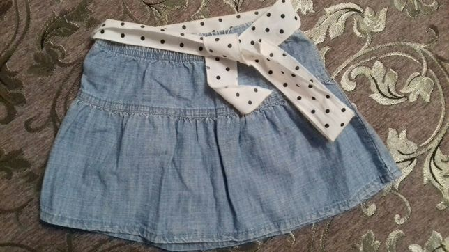 Джинсовая юбка 4-5 лет gloria jeans