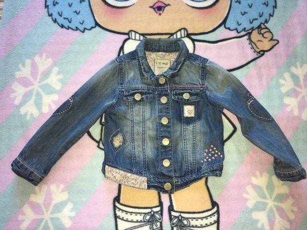 Стильная курточка ветровка джинсовая для девочки Mayoral HM NEXT crazy