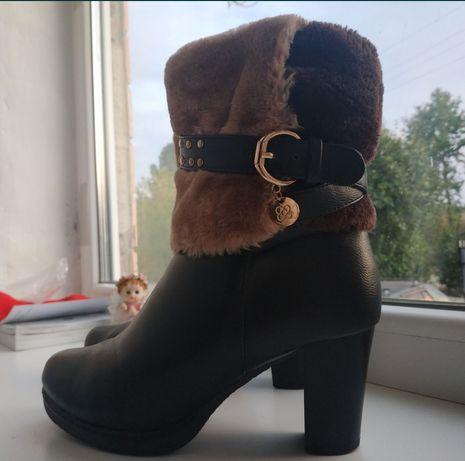 Ботинки сапоги кожаные женские