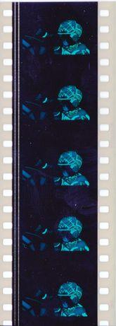 Fotogramas em película 35mm do filme culto TRON