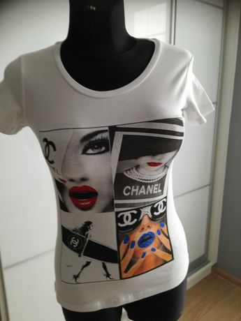 Biały T-shirt na lato