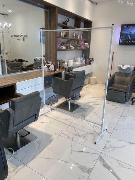 Zakłady fryzjerskie - parawany, ekrany, osłony ochronne