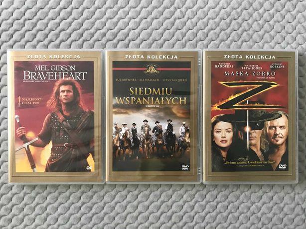 """""""Złota Kolekcja"""" - """"Braveheart"""", """"Siedmiu wspaniałych"""", """"Maska Zorro"""""""