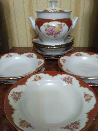 Супница с тарелками,сервиз обеденный,набор посуды
