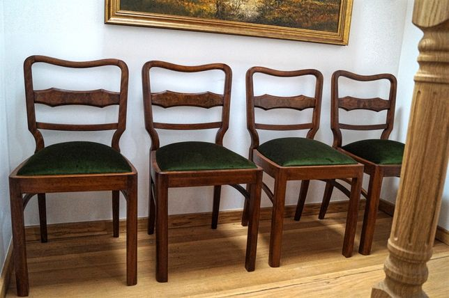Krzesła Art Deco Lata 30 Jadalnia Po Renowacji