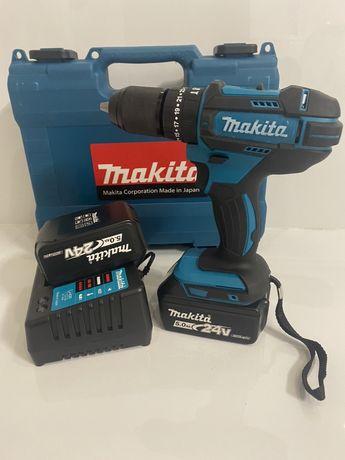Мощный аккумуляторный шуруповерт Makita DHP482(макита) 24v 5.0ah