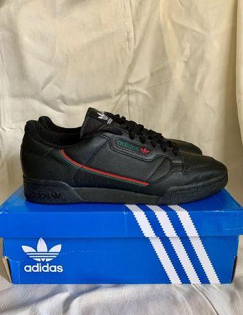 Черные кроссовки Adidas Originals Continental 80 46р