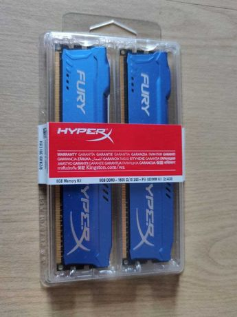 Оперативная память Kingston HyperX FURY Blue DDR3-1600 8Gb(2x4Gb)