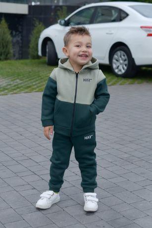 Теплый спортивный костюм ФЛИС для мальчика р. 116, 122