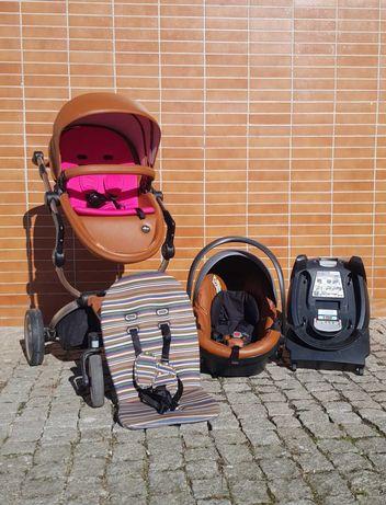 Mima xari trio - rose gold camel com 2 conjuntos de assentos