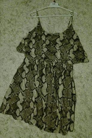 Sukienka wzór wężowy 50. OKAZJA