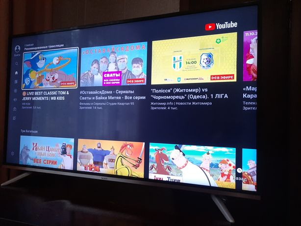 Телевизор bravis 4k , 45 диагональ, смарт.