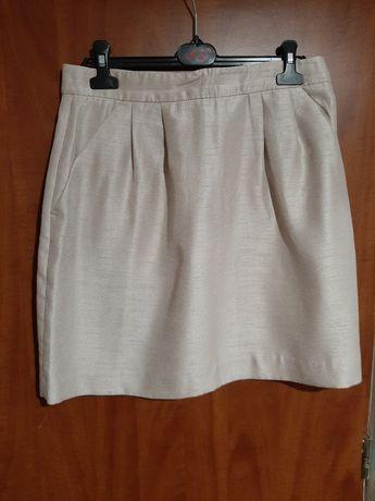 Spódnica H&M 42 beżowa