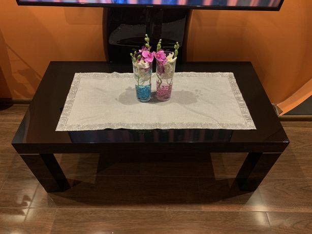 Ława stolik Hubertus czarny wysoki połysk 120 cm