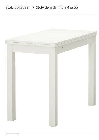 Stół Ikea rozkładany 50/70/90x90  biały BJURSTA