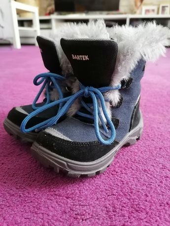 Buty zimowe, dla dziecka, ocieplane, skóra naturalna, Bartek + GRATIS