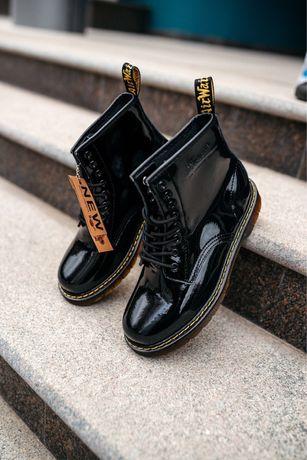 Женские Ботинки Dr. Martens Classic Black/Мартинс Чёрные