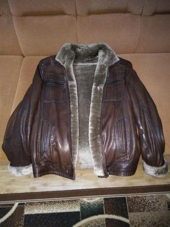 Зимняя кожаная дублёнка ( куртка )