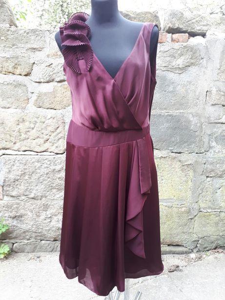 M&Ś bordowa sukienka 42