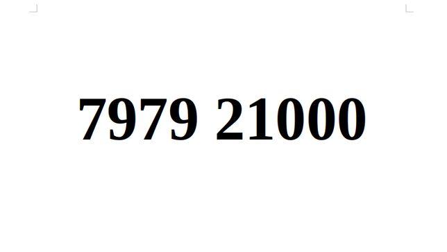 Ładny Numer Starter Orange 7979. 21000