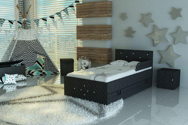 Wyjątkowe łóżeczko dla dziecka tapicerowane tkaniną+materac,KRYSZTAŁKI
