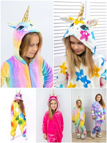 Кигуруми пижама единорог 104 110 116 122 128 134 140 146 152 158 164