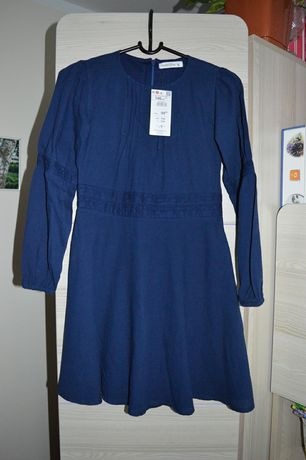 Reserved sukienka granatowa 146 nowa