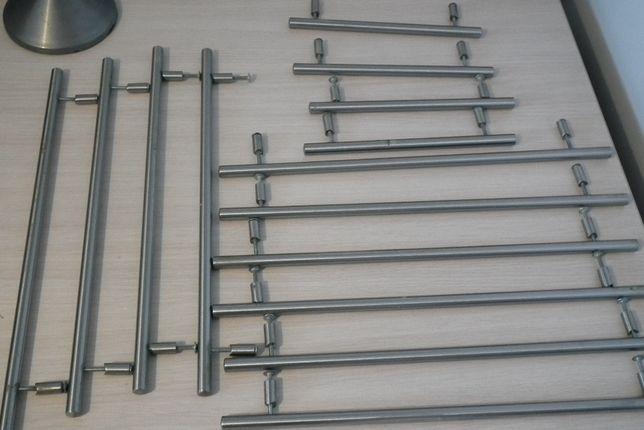 Uchwyty meblowe reling rączka do szafki 14szt satyna 10x40cm 4x22cm
