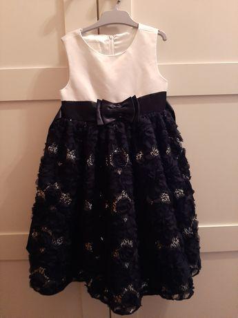 Sukienka 104 + kurteczka ramoneska elegancka na 4 lata granatowa carry