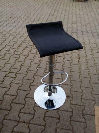 Krzesło barowe metal, skóra naturalna, ładne