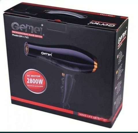 Фен для укладки и сушки волос Gemei GM-1765
