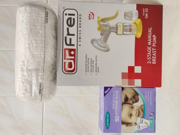 МолокоотсосDr.Frei GM20 +Пакеты для хранения грудного молока+Подарок
