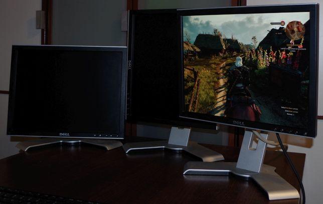 Markowe monitory DELL, złącza DVI i VGA, Płaski ekran LCD, PIVOT Tanio
